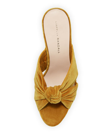 Coco Knotted Velvet Slide Sandal