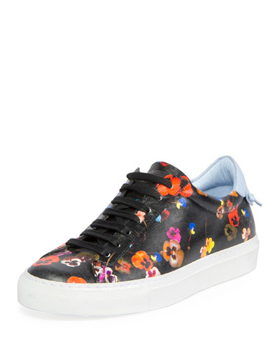 Urban Knots Floral-Print Low-Top Sneaker, Multi