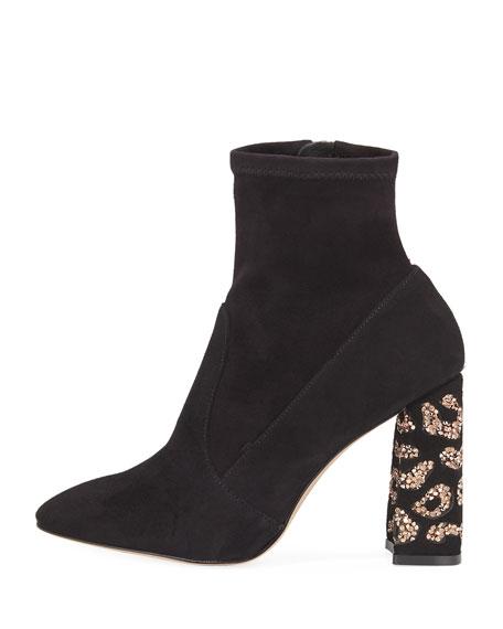 Sam 110mm Embellished-Heel Boot