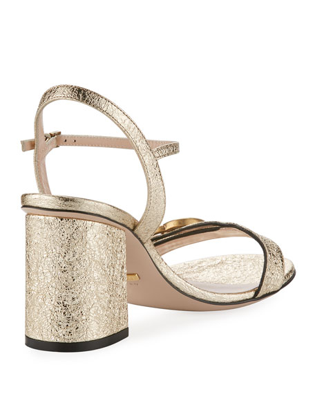 Marmont Metallic City Sandal, Gold