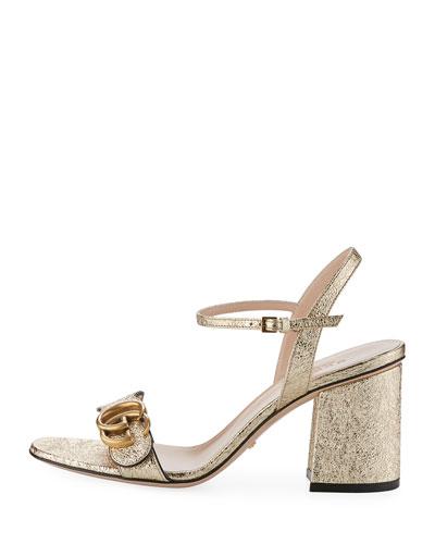 Metallic City Sandal, Gold