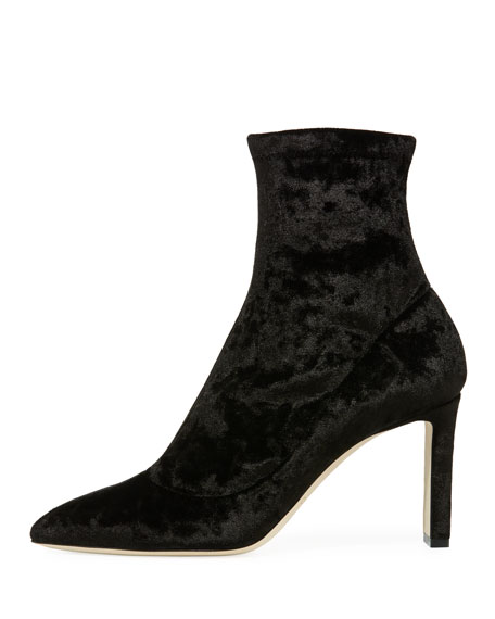 Louella Stretch-Velvet 85mm Bootie