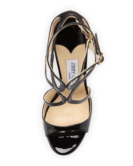 Lang 100mm Patent Strappy Sandal