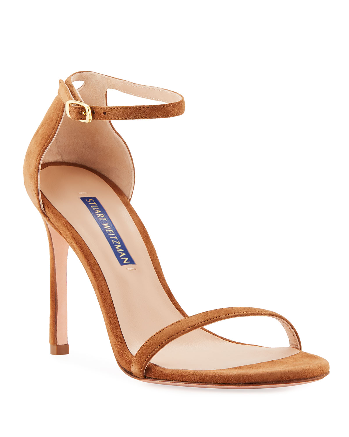 Stuart Weitzman Sandals Nudistsong Suede Ankle-Wrap Sandals