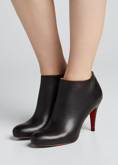 ad15db8472da Christian Louboutin Belle Leather Red-Sole Ankle Boots