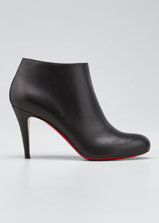 796b9dadc Christian Louboutin Belle Leather Red-Sole Ankle Boots