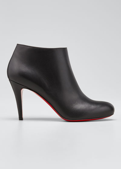 Belle Leather Red-Sole Ankle Boots