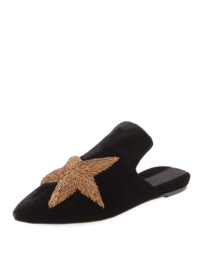 Stelle Metallic Star Velvet Slipper