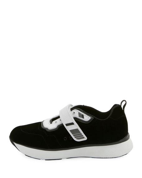 Velvet Grip-Strap Sneaker
