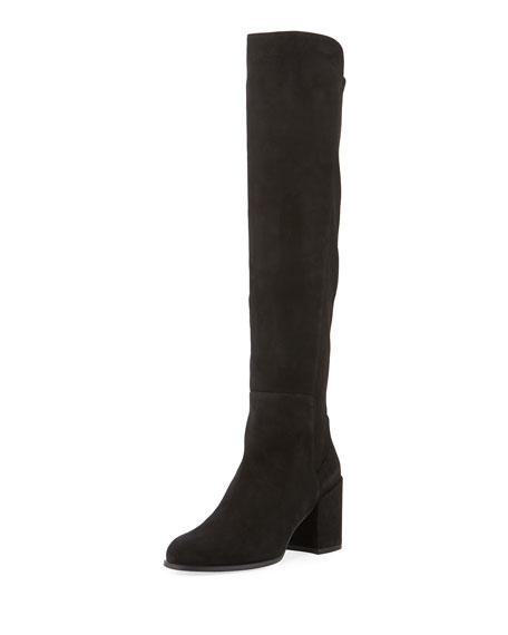 Alljack Suede Block-Heel Knee Boot
