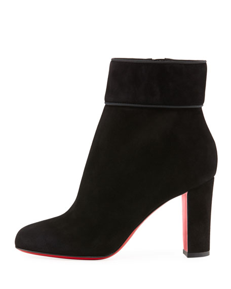 3a2f30f49a62 Christian Louboutin Moulamax Suede 85mm Red Sole Booties