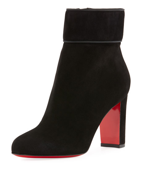 Moulamax Suede 85mm Red Sole Bootie