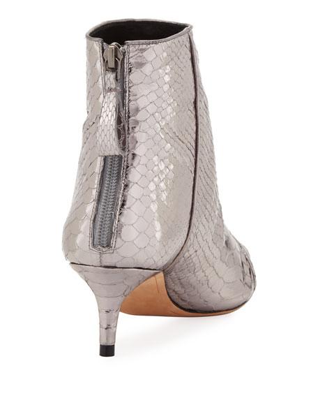 Kittie Metallic Python Boot
