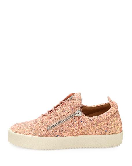 1179bce8408 Giuseppe Zanotti May Coarse Glitter Platform Sneakers
