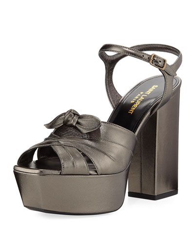 Farrah Metallic Leather Platform Sandal