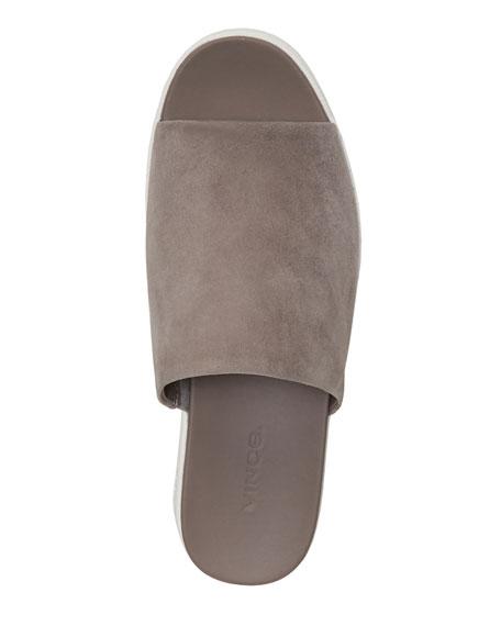Vince Walford Flatform Suede Slide Sandal