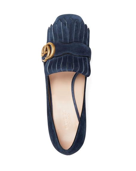 Marmont Fringe Suede 55mm Loafer