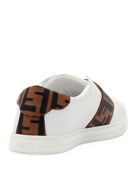 Fendi Pearland Leather Sneakers with FF