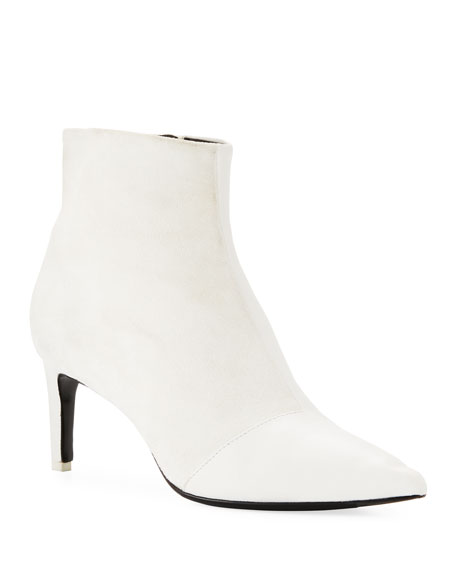 f66d21d520 Rag & Bone Beha Mixed Leather & Suede Zip Boots, White