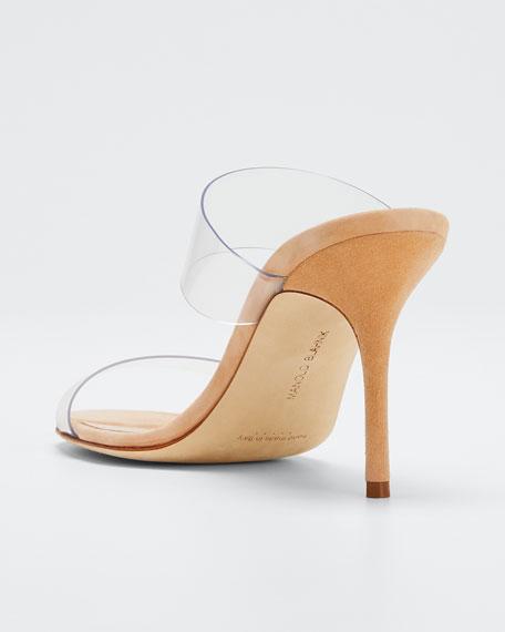 335d9808fadf Manolo Blahnik Scolto PVC Two-Strap Sandals