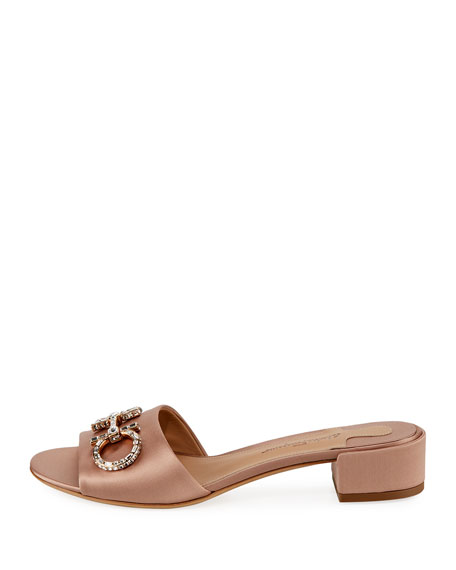 Crystal Bit-Strap Mule Sandal