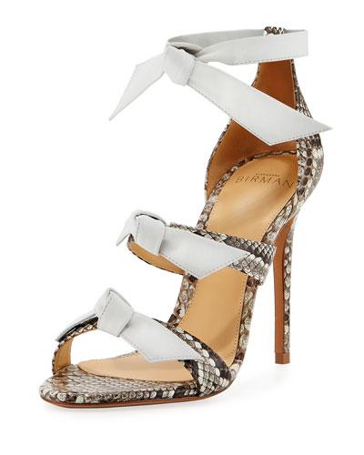 Lolita Strappy Python Sandal