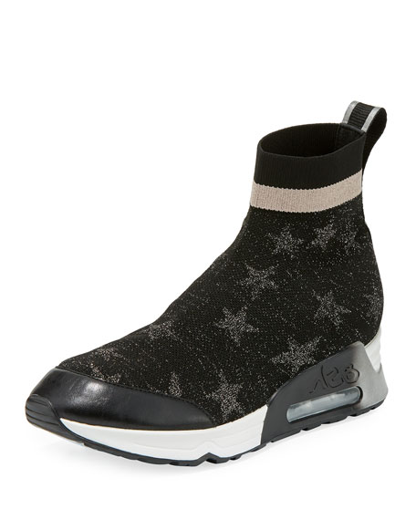 Image 1 of 1: Lulla Star-Sock Slide Sneakers