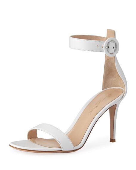 Gianvito Rossi Portofino Napa Ankle-Strap 85mm Sandal