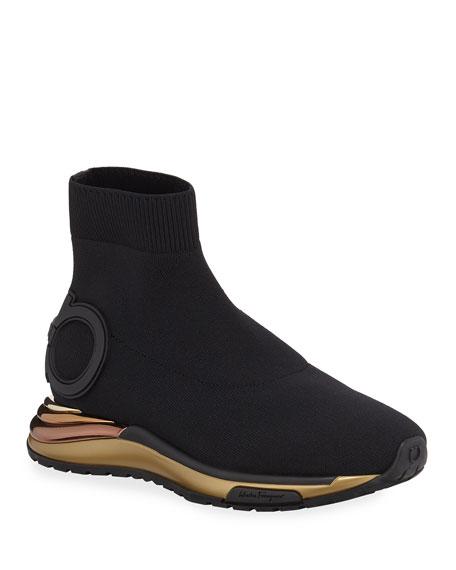Gancini Sock High-Top Sneakers