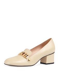 Sylvie Leather 55mm Loafer by Gucci