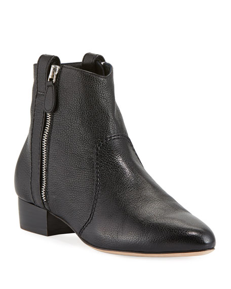 Laurence Dacade Soa Grained Kit Leather Booties