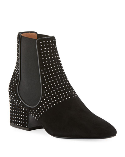 Rocco Suede Studded Booties
