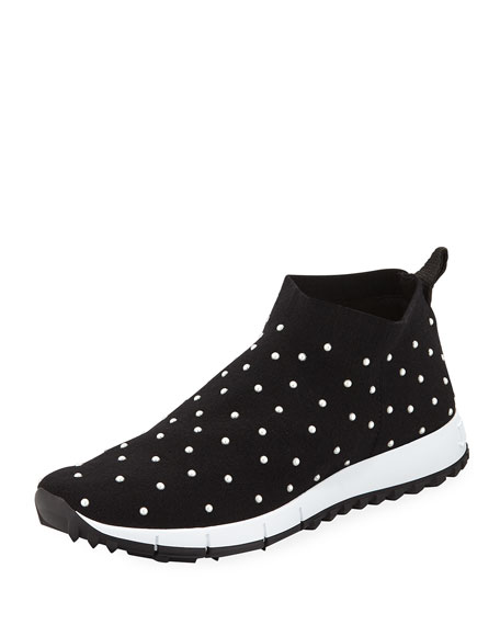 0e130f57945 Jimmy Choo Norway Slip-On Sneakers with Faux-Pearl Beads