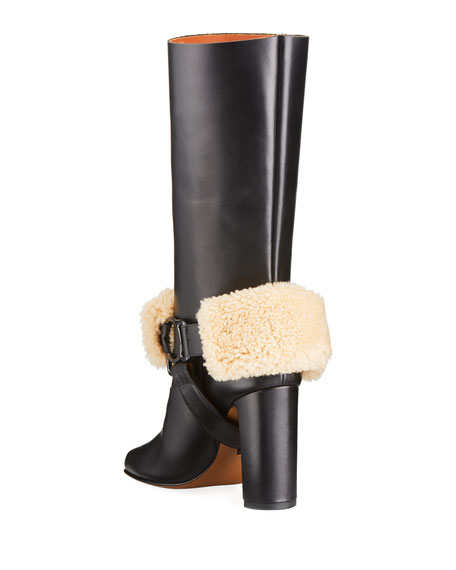 For Riding Leather Harness Boots