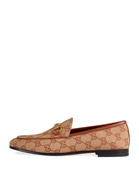 GG Canvas Flat Loafers