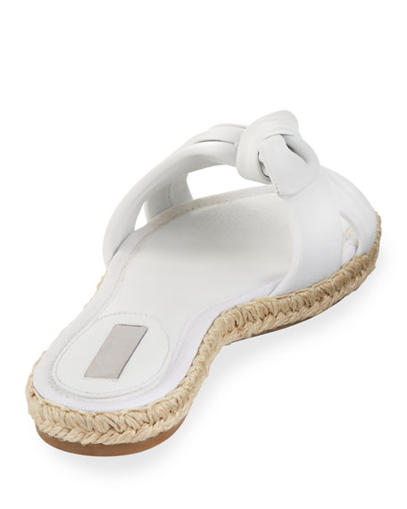 Heli Slide Flat Sandals, White