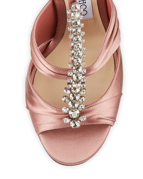 Kenny Satin Crystal Sandals