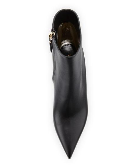 Rockstud Leather Ankle Booties