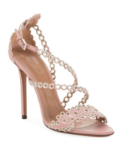 Grommet Crisscross 110mm Leather Sandals
