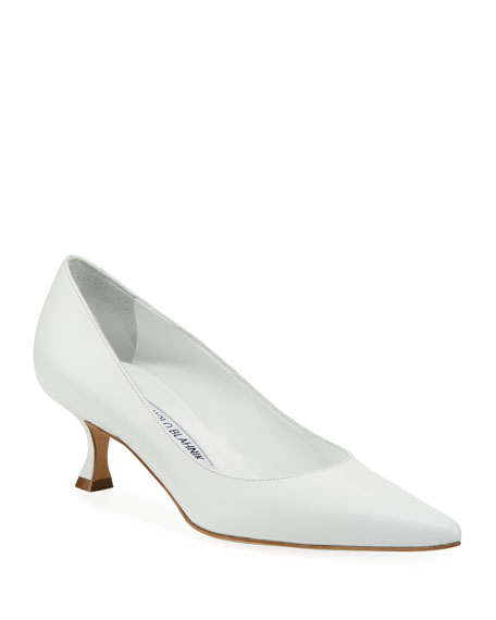 Srila Pointed Leather Pumps