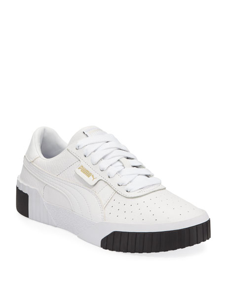 Cali Low Top Pebbled Leather Sneakers by Puma