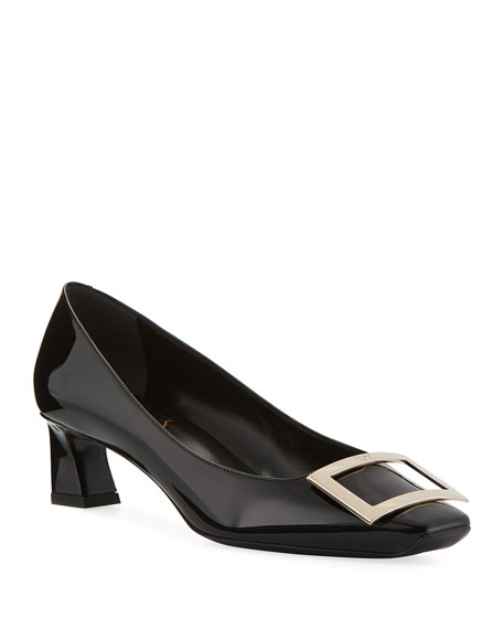Image 1 of 1: Belle Vivier Trompette Patent Leather Pumps