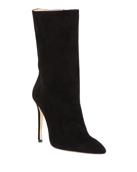 Cuba Suede Pointed-Toe Booties