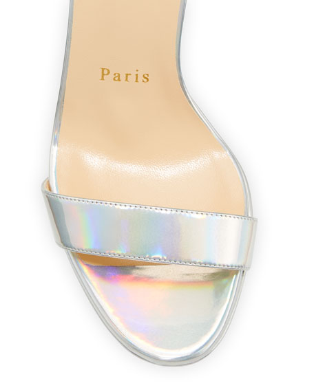 Loubi Queen Laser Red Sole Holographic Sandals