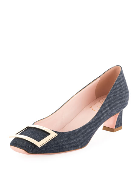 Belle Vivier Trompette Denim Pumps