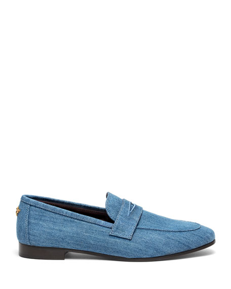 Flaneur Denim Penny Loafers