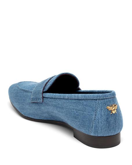 Flaneur Denim Penny Loafers