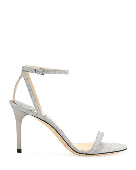 Minny Glittered Ankle-Strap Sandals