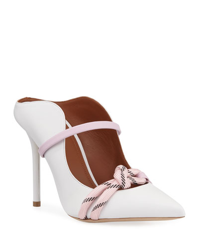 Farrah Cord Knot High-Heel Mules
