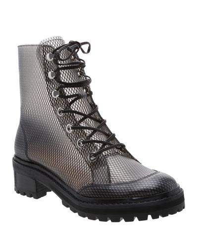 Elisangela Mesh Lace-Up Boots